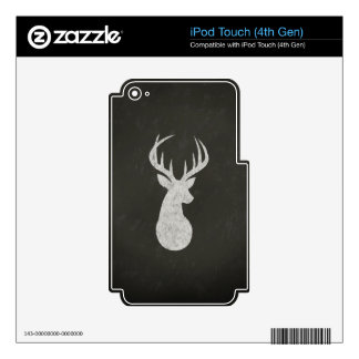 Deer With Antlers Chalk Drawing Skin For iPod Touch 4G