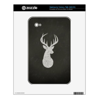 Deer With Antlers Chalk Drawing Samsung Galaxy Tab Decal