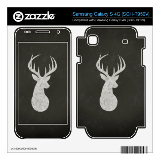 Deer With Antlers Chalk Drawing Samsung Galaxy S 4G Skins