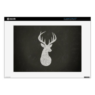"Deer With Antlers Chalk Drawing 15"" Laptop Decal"