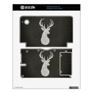 Deer With Antlers Chalk Drawing Decal For The DSi XL