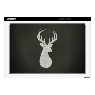 Deer With Antlers Chalk Drawing Decal For Laptop