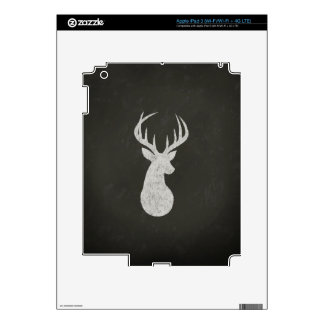 Deer With Antlers Chalk Drawing Decals For iPad 3