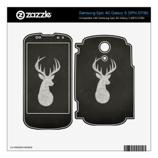 Deer With Antlers Chalk Drawing Skin For Samsung Epic