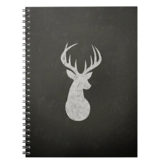 Deer With Antlers Chalk Drawing Spiral Notebook