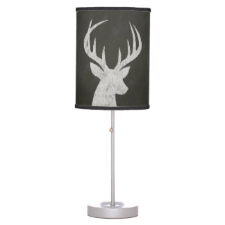 Deer With Antlers Chalk Drawing Table Lamp