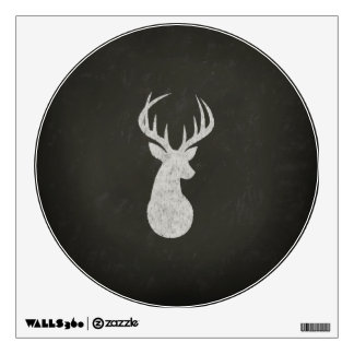 Deer With Antlers Chalk Drawing Wall Decal