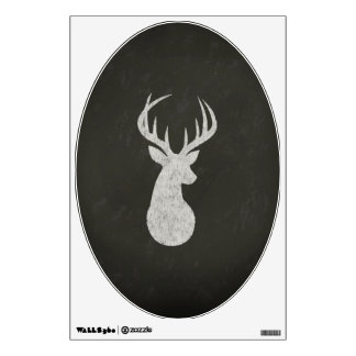 Deer With Antlers Chalk Drawing Wall Sticker
