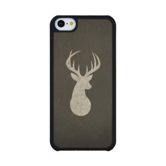Deer With Antlers Chalk Drawing Carved® Maple iPhone 5C Slim Case