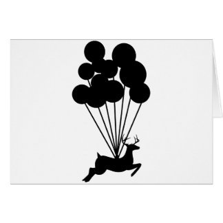 Deer with Balloons Greeting Cards