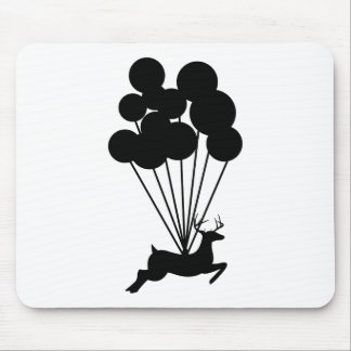 Deer with Balloons Mouse Pad