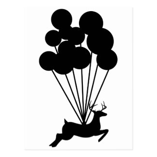 Deer with Balloons Post Cards