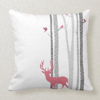 Deer with Birds Pillow
