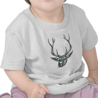 Deer with Blue Sunglasses T Shirts