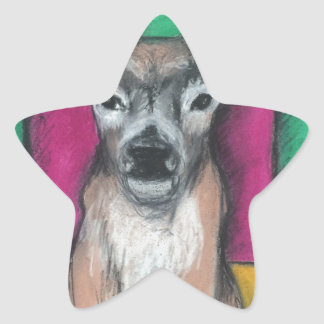 Deer with Geometric Background Star Sticker