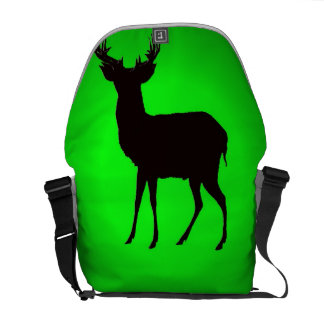 deer with green background image on  bag