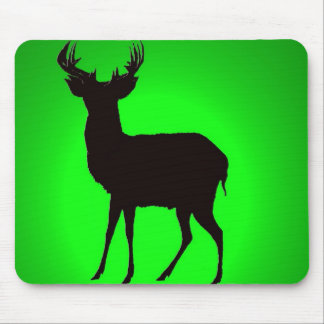 deer with green background image on computer mouse mouse pad