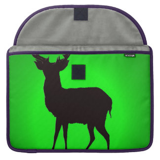 deer with green background image on laptop bag sleeve for MacBook pro