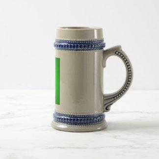deer with green background image on white mug