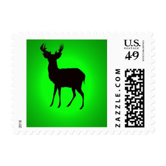 deer with green background image on zazzle stamp