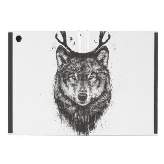 Deer wolf (black and white) cover for iPad mini