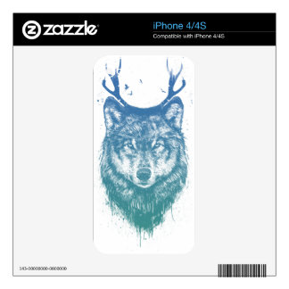 Deer wolf skin for iPhone 4