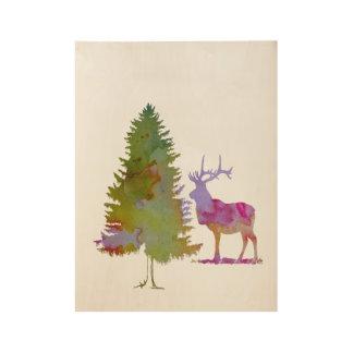 Deer Wood Poster