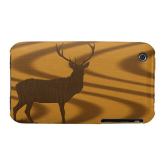 deer woodgrain Case-Mate iPhone 3 case