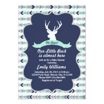 Deer Woodland Baby Shower invitation