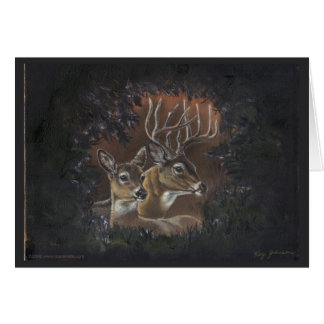 Deer Wreath Card