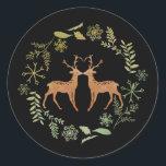 "Deer Wreath Christmas Stickers<br><div class=""desc"">Deer Wreath Christmas Stickers</div>"
