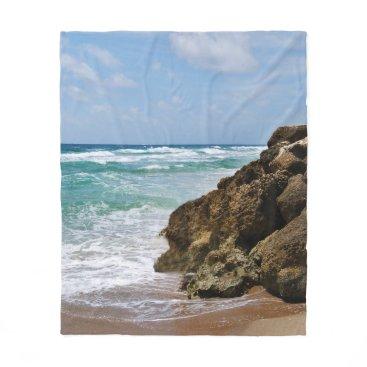 Beach Themed Deerfield Beach Fleece Blanket