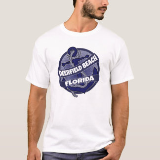 Deerfield Beach Florida anchor swirl tshirt