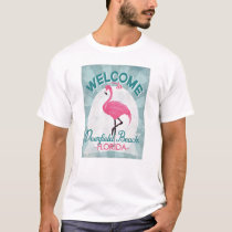 Deerfield Beach Florida Pink Flamingo Retro