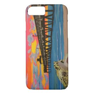 Deerfield Beach Pier Pop! painting on a Case
