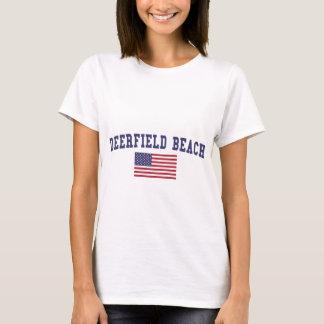 Deerfield Beach US Flag T-Shirt