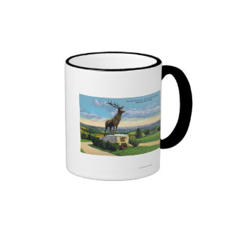 Deerfield River Valley on Mohawk Trail Ringer Coffee Mug