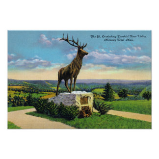Deerfield River Valley on Mohawk Trail Poster