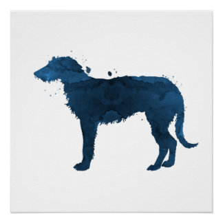 Deerhound Poster