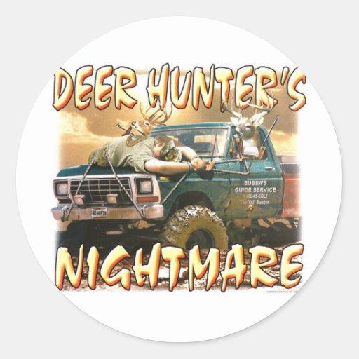 deerhuntersnightmare pegatinas redondas