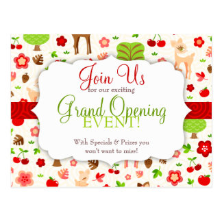 Deerie Forest Grand Opening Postcard
