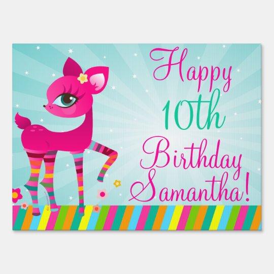 Deerie Happy Birthday Sign
