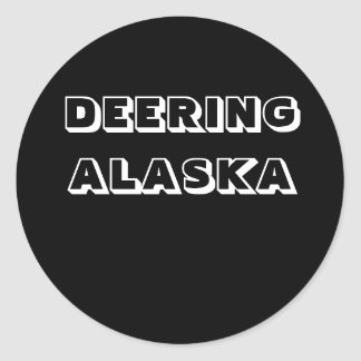 DEERING ALASKA PEGATINA REDONDA