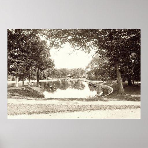 Deering Oaks, circa 1900 Poster