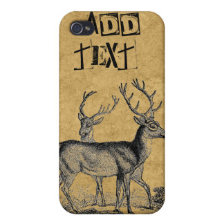 Deers Add Text Hunters iPhone Case 4/4S