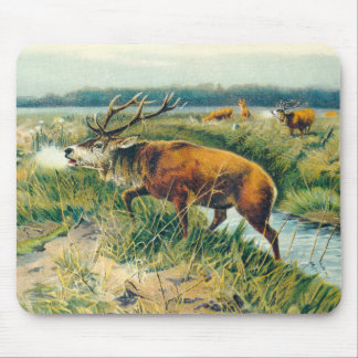 Deers by Dawn's Early Light Mouse Pad