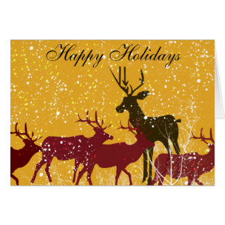 Deers First Snow Greeting Card