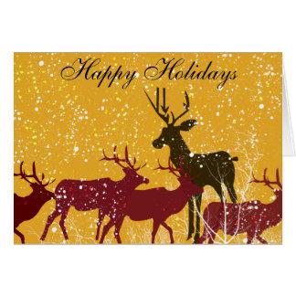 Deers First Snow Greeting Card