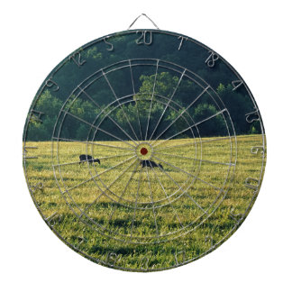 Deers Grazing Dartboard With Darts