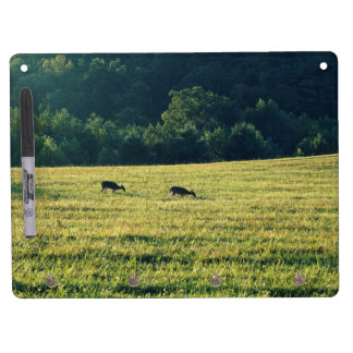 Deers Grazing Dry Erase Board With Keychain Holder